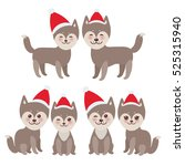 new year's and christmas funny... | Shutterstock . vector #525315940