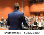 speaker giving a talk on... | Shutterstock . vector #525323500