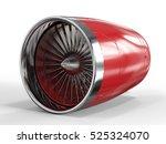 3d Rendering Jet Engine On...