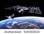 spacecraft docked to... | Shutterstock . vector #525332023