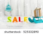 winter sale and shopping... | Shutterstock . vector #525332890