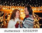 happy attractive couple... | Shutterstock . vector #525332959