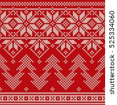 winter holiday seamless knitted ... | Shutterstock .eps vector #525334060