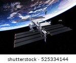 spacecrafts and international... | Shutterstock . vector #525334144