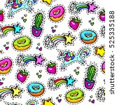 seamleaaa pattern with... | Shutterstock .eps vector #525335188