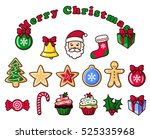 colorful christmas objects ...   Shutterstock .eps vector #525335968