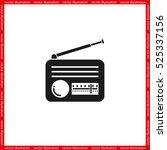 retro radio icon vector... | Shutterstock .eps vector #525337156