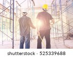 construction worker on... | Shutterstock . vector #525339688
