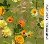 art vintage blurred colored... | Shutterstock . vector #525343840