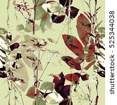 art vintage blurred monochrome... | Shutterstock . vector #525344038