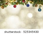 multi colored christmas balls... | Shutterstock . vector #525345430