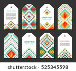eight bright colorful vertical... | Shutterstock .eps vector #525345598