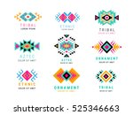 colorful  aztec style... | Shutterstock .eps vector #525346663