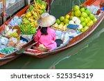 damnoen saduak floating market... | Shutterstock . vector #525354319