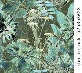 art vintage blurred monochrome... | Shutterstock . vector #525356623