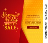 template design christmas... | Shutterstock .eps vector #525357460