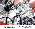 equipment  cables and piping as ... | Shutterstock . vector #525361660