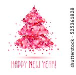 happy new year congratulation... | Shutterstock .eps vector #525361828