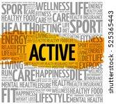active word cloud  fitness ... | Shutterstock .eps vector #525365443