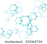 abstract molecular structure... | Shutterstock .eps vector #525365734
