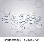 molecular background | Shutterstock .eps vector #525368734