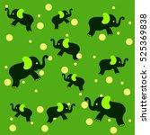 elephant vector background   Shutterstock .eps vector #525369838