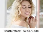 portrait of beautiful smiling... | Shutterstock . vector #525373438