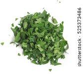 chopped parsley leaves. fresh... | Shutterstock . vector #525373486