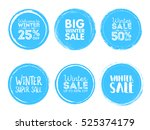 winter sale. vector grunge... | Shutterstock .eps vector #525374179