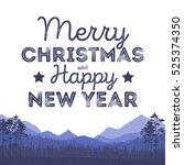christmas landscape background... | Shutterstock .eps vector #525374350