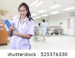 beautiful woman medical...   Shutterstock . vector #525376330