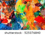 Oil Paints Multicolored Closeu...