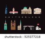 switzerland famous landmarks...   Shutterstock .eps vector #525377218