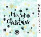 merry christmas background.... | Shutterstock .eps vector #525377638