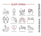 sleep apnea. symptoms ... | Shutterstock .eps vector #525378469