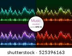 vector sound waves set. audio... | Shutterstock .eps vector #525396163