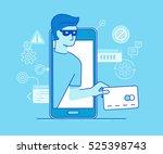 vector illustration in modern... | Shutterstock .eps vector #525398743