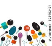 microphone. vector flat design...   Shutterstock .eps vector #525403414