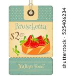 italian food   tag with... | Shutterstock .eps vector #525406234