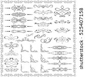 ornate splendid design elements ... | Shutterstock .eps vector #525407158