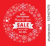 christmas and new year sale... | Shutterstock .eps vector #525407470