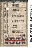train ticket retro vector... | Shutterstock .eps vector #525409174