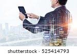 senior businessman use tablet . ... | Shutterstock . vector #525414793