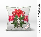 Vector Pillow. Branches Of...