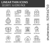 set of thin line flat icons....   Shutterstock .eps vector #525416710