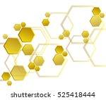 hexagons  abstract background... | Shutterstock .eps vector #525418444