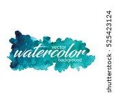 vector watercolor background.... | Shutterstock .eps vector #525423124