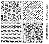 set of hand drawn pattern with... | Shutterstock .eps vector #525423130