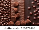 background of chocolate and...   Shutterstock . vector #525424468