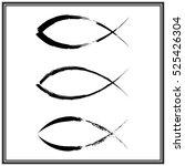 christian fish symbol. vector | Shutterstock .eps vector #525426304